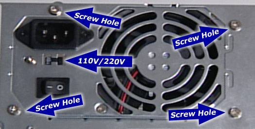 Case power supply how to build a computer 110 volts and 220 volts is set to 110 volts if you are in the us the 220 volt switch is for other countries or europe that use 220 volts of power publicscrutiny Choice Image